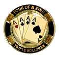 Four of a kind triple rollover icon