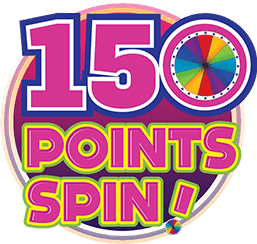 150 Points Spin Logo