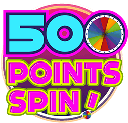 500 Points Spin Logo